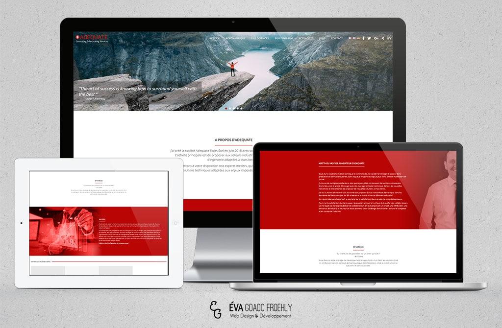 Adequate Swiss evago.fr Eva Goaoc création de site web WordPress webdesign