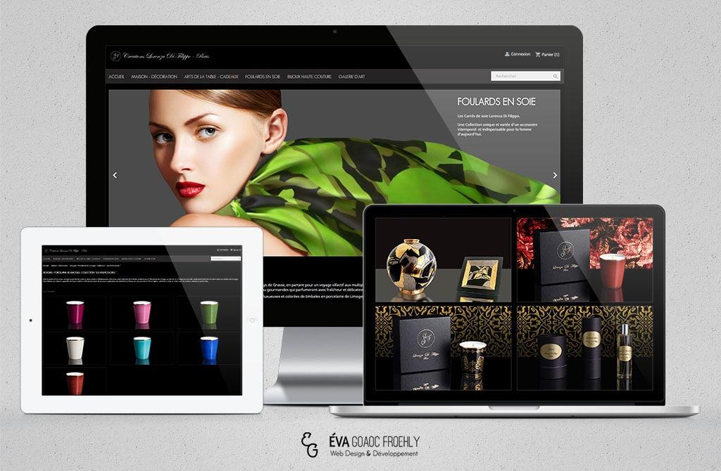 Lorenza Di filippo evago.fr Eva Goaoc création de site web Prestashop e-commerce Mulhouse webdesign