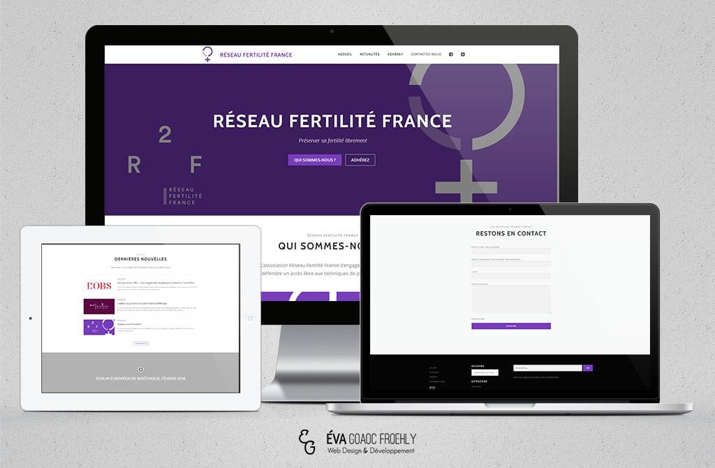Réseau fertilité france R2f evago.fr Eva Goaoc création de site web WordPress webdesign