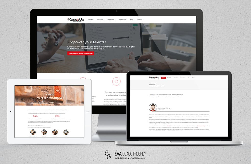 KonexUp evago.fr Eva Goaoc création de site web WordPress webdesign