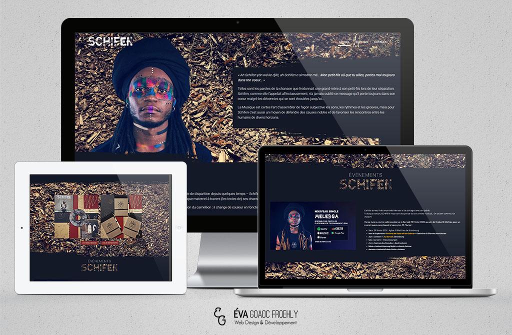 Schifen evago.fr Eva Goaoc création de site web WordPress webdesign