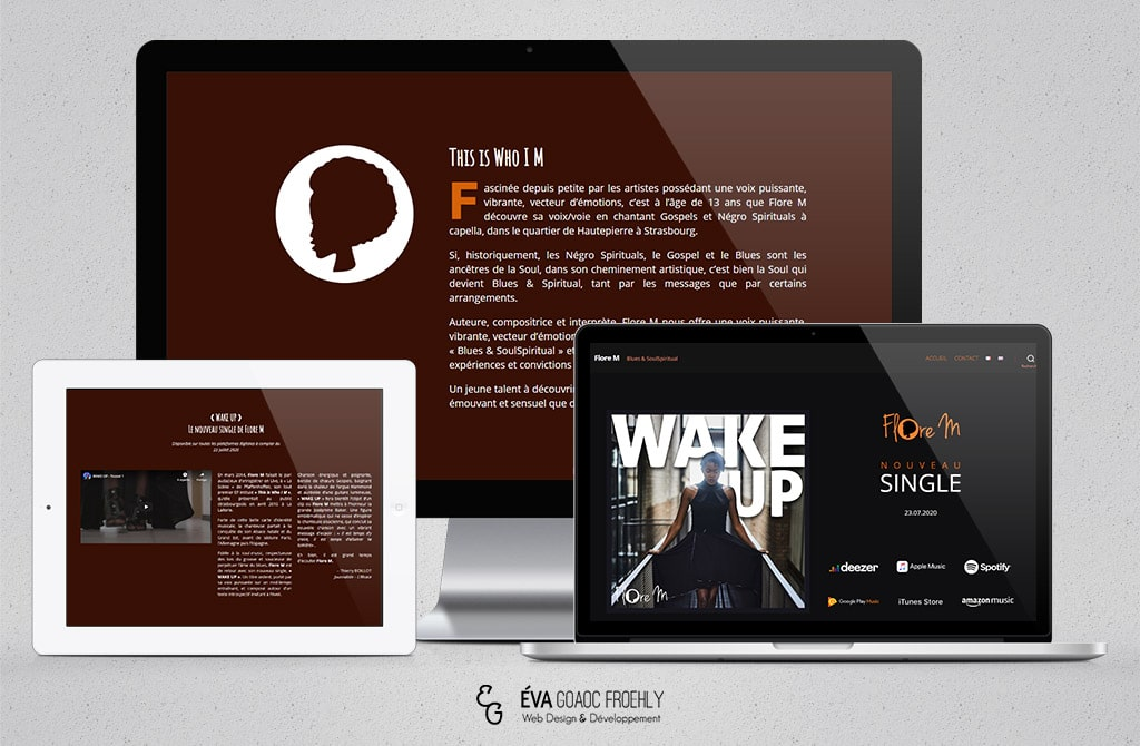 Flore-M evago.fr Eva Goaoc création de site web WordPress webdesign