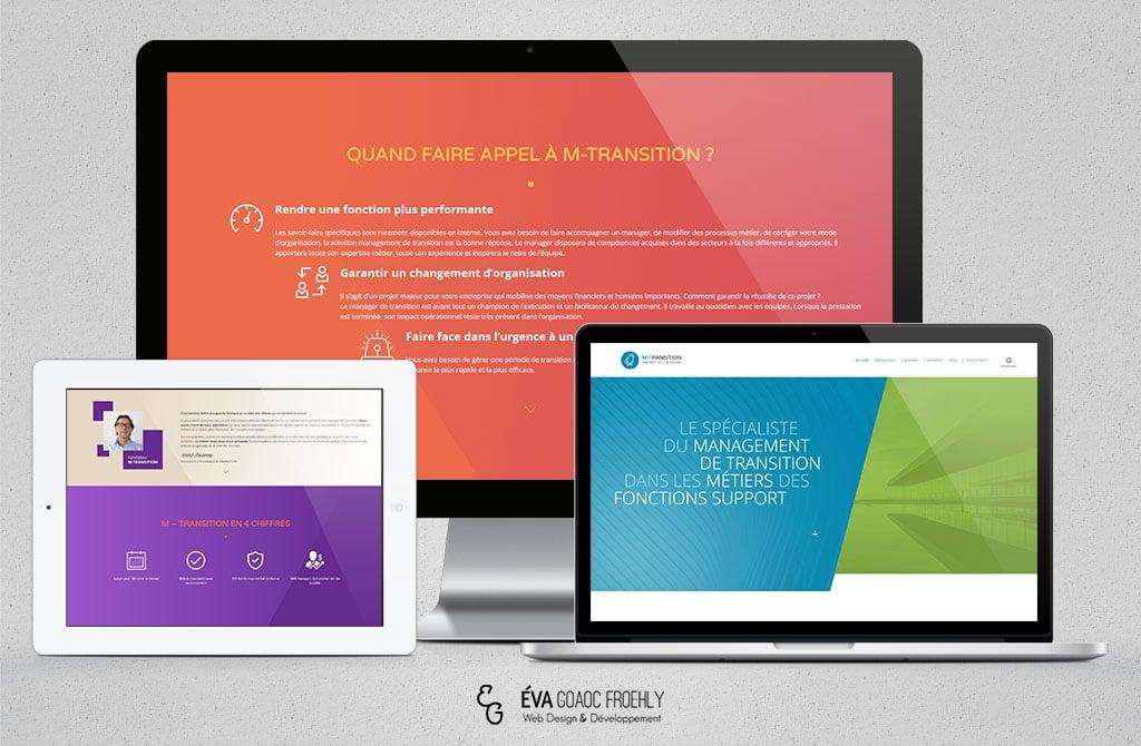 M-Transitionevago.fr Eva Goaoc création de site web WordPress webdesign