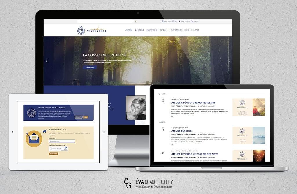 Vivessence evago.fr Eva Goaoc création de site web WordPress webdesign